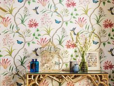 Cute wallpaper for a girly room