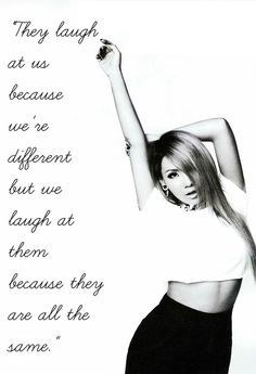 CL, 2NE1 Unique, one of a kind, weird