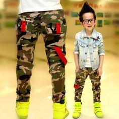 Camo Slim Fit Boys Jeans - Modern Design