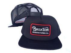 2c298d49d6ac3 Brixton MANUFACTURING CO. Snapback Hats Black Mesh Hats 6716! Only  8.90USD