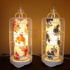 Creative DIY Chinese bamboo art lamp/ bedside lamps, table lamp birdcage lamps-ZZKKO