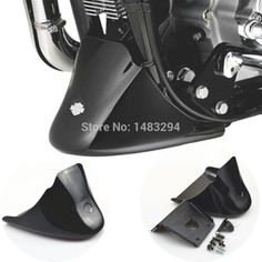 All Black Front Bottom Spoiler Mudguard Fits For Harley Sportster 1200 XL Iron 883 2004-2015(China (Mainland))