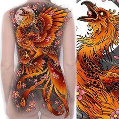 26 Ideas Phoenix Bird Drawing Art Tatoo For 2019 Japanese Pheonix Tattoo, Japanese Dragon Tattoos, Japanese Tattoo Art, Japanese Sleeve Tattoos, Phoenix Back Tattoo, Phoenix Bird Tattoos, Phoenix Tattoo Design, Tattoo Ave Fenix, Fenix Tattoos