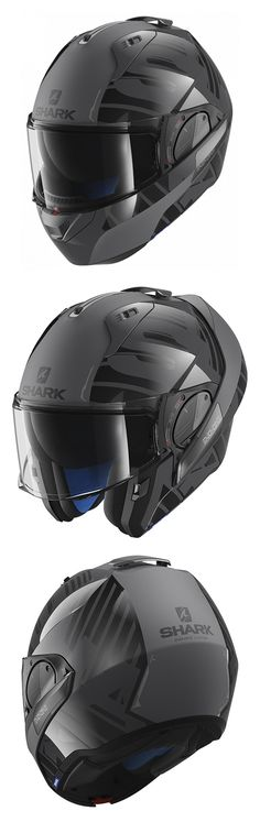 Order the Shark Evo-One 2 Lithion Dual Helmet AKA - Grey Matt Black from GetGeared: Feedback Rating - Shop now Bike Helmets, Motorcycle Gear, Bicycle Helmet, Up Auto, Cosplay Helmet, Klr 650, Diy Camper, Cool Motorcycles, Road King