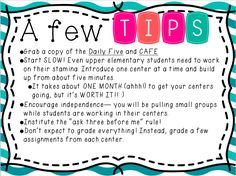 Learn some tips on implementing Daily 5 in the upper grade classroom.  Perfect for grades 3-5.