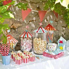Des bocaux aux couvercles de papier // jar lids, colors, paper, birthday, kid