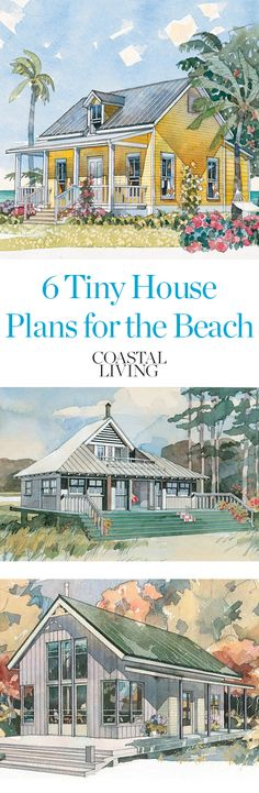 If you've ever dreamed of building a little cottage by the sea, you've got to see these charming house plans, all less than 1,200 square feet.