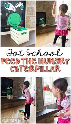This feed the hungry caterpillar activity is the perfect gross motor activity for a butterfly theme in tot school, preschool, or the kindergarten classroom.