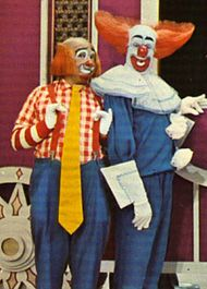 """Bozo and Cooky from """"Bozo's Circus"""" filmed at WGN Studios ...   Bozo The Clown Show Game"""