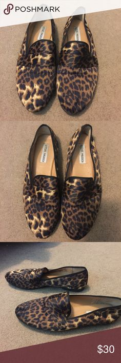 Steve Madden Loafers Steve Madden Cheetah Print Loafers. Size 10M. Worn a few times but in perfect conditions. Steve Madden Shoes Flats & Loafers