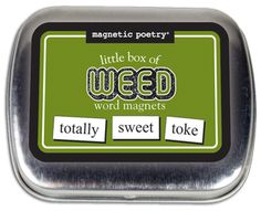 Fridge Game Magnetic Poetry CANNABIS CONNOISSEUR 200 Themed Magnetic Words