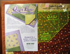 Quick and easy miter tool tutorial.  Use it to wrap backing fabric to quick top for binding instead of attaching separate binding with perfect mitered corners.  I'd use this method for place mats, table runner, etc but not for quilts.