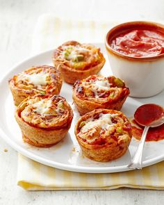 The secret to these muffin tin stromboli cups? Store-bought pizza dough and a muffin tin. With only six ingredients and a 25-minute prep, you'll be party-ready with time to spare. #appetizers #partyfood #fingerfood #miniappetizerrecipes #muffintinrecipes #bhg Muffin Tin Recipes, Muffin Tins, Stromboli Dough Recipe, Stromboli Pizza, Pizza Dough, Yummy Appetizers, Appetizer Recipes, Brunch Recipes, Dinner Recipes