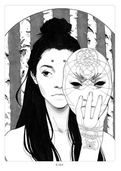 Tagged with art, drawings, fantasy, portrait, illustration; Shared by DjamilaKnopf. Art And Illustration, Ink Illustrations, Kunst Inspo, Art Inspo, L5r, Rabe, Animation, Fantasy Characters, Traditional Art
