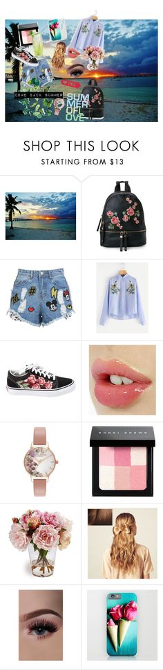 """""""Come back summer"""" by rebekastar ❤ liked on Polyvore featuring Urban Expressions, Disney Stars Studios, Vans, Olivia Burton, Bobbi Brown Cosmetics and Hershesons"""