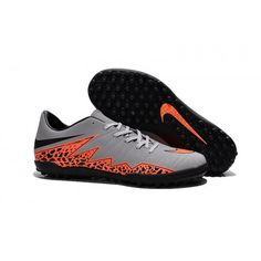 watch 6a80b 8f210 Boutique Nike Hypervenom Phelon II TF Chaussures de football Gris Noir  Orange