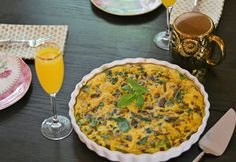 harlyn sage: beef, spinach and mushroom crust-free quiche