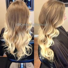 My newest creation on my best friend Brittany's hair. I'm kind of obsessed with this color! I did a smokey cool/warm medium blonde base and...