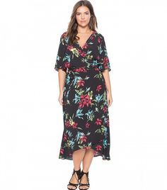 Eloquii Circle Sleeve Wrap Dress