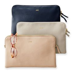 Daily Leather Zip Pouch | Mark and Graham