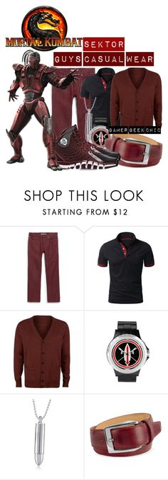 """""""Mortal Kombat (2011) - Sektor"""" by gamer-geek-chic ❤ liked on Polyvore featuring Vans, Bullet, pakerson and adidas"""