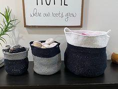 Ravelry: Modern Baskets pattern by Angela Plunkett