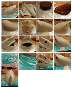 Shark Cake. It is created by https://www.facebook.com/cakecookie https://www.facebook.com/media/setset=a.288692814584924.68354.276649969122542=1