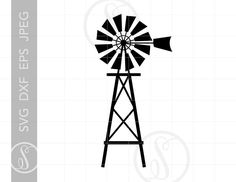 Check out our eps selection for the very best in unique or custom, handmade pieces from our digital shops. Vinyl Crafts, Wood Crafts, Windmill Tattoo, Farm Windmill, Windmill Decor, Wood Router, Wood Lathe, Cnc Router, Graffiti Lettering Fonts