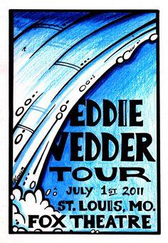 Eddie Vedder concert poster July 2011