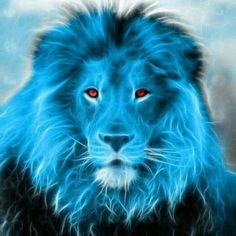 another idea of blue lion ora Fractal Images, Fractal Art, Animals And Pets, Cute Animals, Lion Wallpaper, Lion Pictures, Le Roi Lion, Tiger Art, Blue Lion