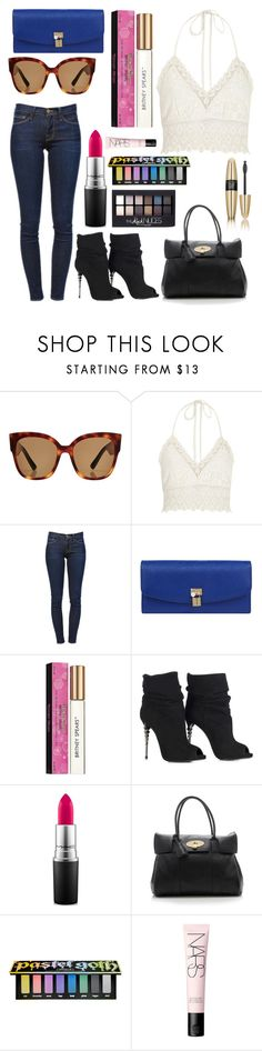 """Untitled #10946"" by ohnadine ❤ liked on Polyvore featuring Gucci, River Island, Frame, Dolce&Gabbana, Britney Spears, MAC Cosmetics, Mulberry, Kat Von D, Maybelline and Victoria's Secret"