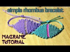 How to macrame: Simple single bead necklace - Easy macrame tutorial with step by step - YouTube