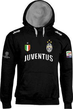 Felpa JUVENTUS - Campione - Scudetto ITALIA Calcio - con Cappuccio Foderato