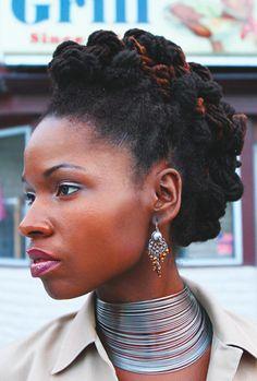 Royalty defined. Hair Accessories unnecessary.  Great look. #locs #Dreadlocks
