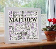 Personalised Print. Boyfriend husband male fiance by AliChappellUK, £17.00