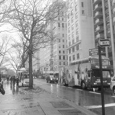 A mi me encanta caminar, pero es aun mejor hacerlo saliendo del Met y descubrir que tiene la 5ta avenida de Nueva York para ti. ~  I love walking down the streets, but it's even better when you do it after visiting the Met and discover what the 5th Avenue of New York plans for you.  #photography #blackandwhite #nyc #ny #newyork #newyorkcity #fifthavenue #street #rainy #winter #traffic