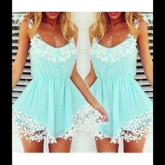 Sky blue, sexy beach, sleeveless, mini dress Casual sundress None Dresses Mini