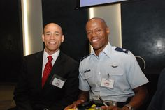 Regional #STEM programs in the National Capital Region participated in National BDPA's annual Regional #TECH Summit and 2015 #APBI (Advance Program Briefing to Industry) round tables and panel discussions. Above (L-R) Harry Wingo, DC Chamber of Commerce and LTCOL John Yourse, U.S. Air Force. Photo by Catherine Williamson: bdpatoday © 2014