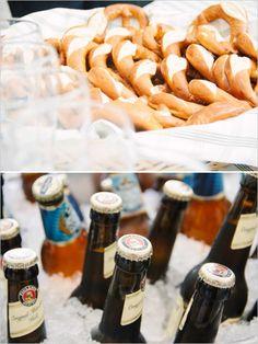 german beer and pretzels - german food - german delicacies wedding #weddingchicks #wedcouturemilano