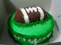 Football Cake Check out my website to order your cake today! http://simplygreatcakes.wix.com/simply-great-cakes