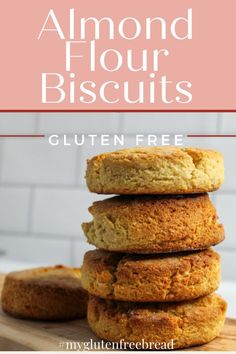 If you're looking for a grain free, gluten free biscuit, you have come to the right place! These almond flour biscuits are so light and so tender, they just might be your new favorite biscuit! They are the perfect biscuit for ANY meal! #glutenfreebread #grainfree #lowcarbrecipes #biscuits #almondflour Gluten Free Quick Bread, Gluten Free Biscuits, Gluten Free Recipes For Breakfast, Gluten Free Treats, Gluten Free Cookies, Gluten Free Baking, Low Carb Recipes, Bread Recipes, Almond Flour Biscuits