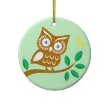 Cute Owl Christmas Tree Ornament