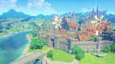 Game Textures, Fantasy Places, Zelda Breath, Cyberpunk Art, Breath Of The Wild, Environmental Art, Fantasy Landscape, Anime Scenery, Entertaining