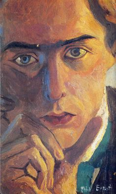 Max Ernst (German, 1891-1976), Self-Portrait, 1909. Oil on canvas, 90 x 60 cm.