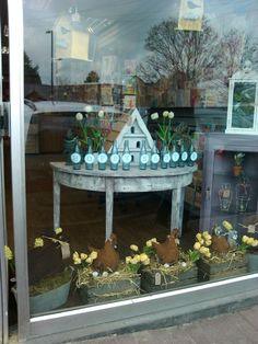 Easter window display at Hook Post office