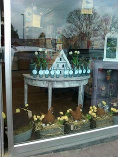 Easter window display at Hook Post office