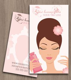 Beauty salon business card by NaomiGraphics on Etsy, €15.00
