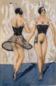 Dancers - 1920 - by Alfons Walde (Austrian, - Tempera and oil on paper - - Weimar Culture - Mlle Maleficio de la mariposa Mikhail Baryshnikov, Georges Seurat, Shall We Dance, Street Dance, Contemporary Paintings, Classic Paintings, Cabaret, Winter Sports, Urban Art