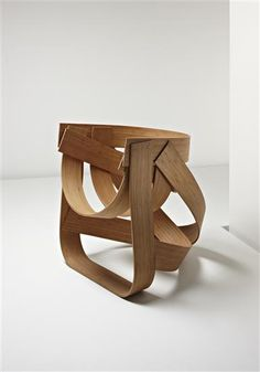 TEJO REMY AND RENE VEENHUIZEN Prototype 'Bamboo' chair, 2009  Bent laminated bamboo. 84.5 cm. (33 1/4 in.) high Produced by Atelier Remy Veenhuizen, The Netherlands. Prototype number two of four for the edition of six.