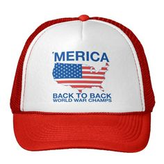 Merica Back to Back World War Champs Trucker Hat